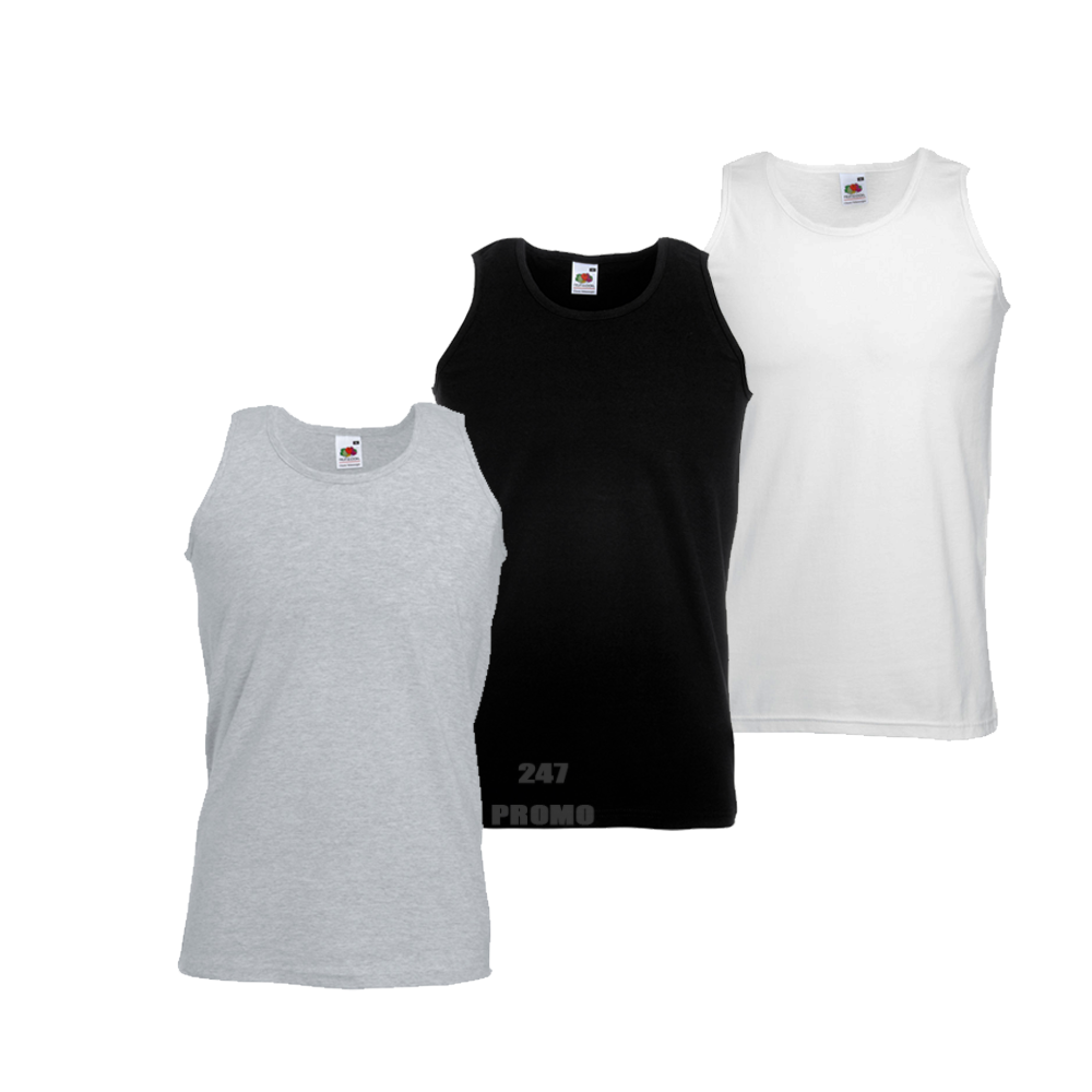 3-x-Fruit-Of-The-Loom-MEN-039-S-ATHLETIC-VESTS-TANK-TOP-FIT-GYM-SPORT-COLOURS-PACK