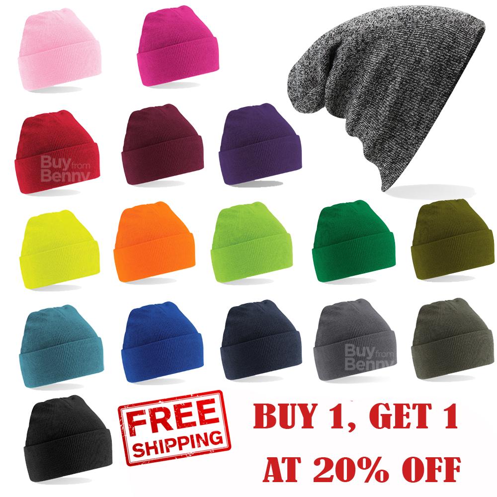 Beechfield Unisexe Homme//Femme Chunky Côtelé Hiver Beanie Hat