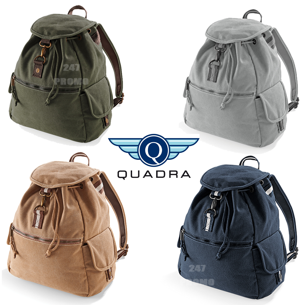 RETRO TRAVEL VINTAGE BAG RUCKSACK STYLE CANVAS BACKPACK HIPSTER AqzaBwZxF