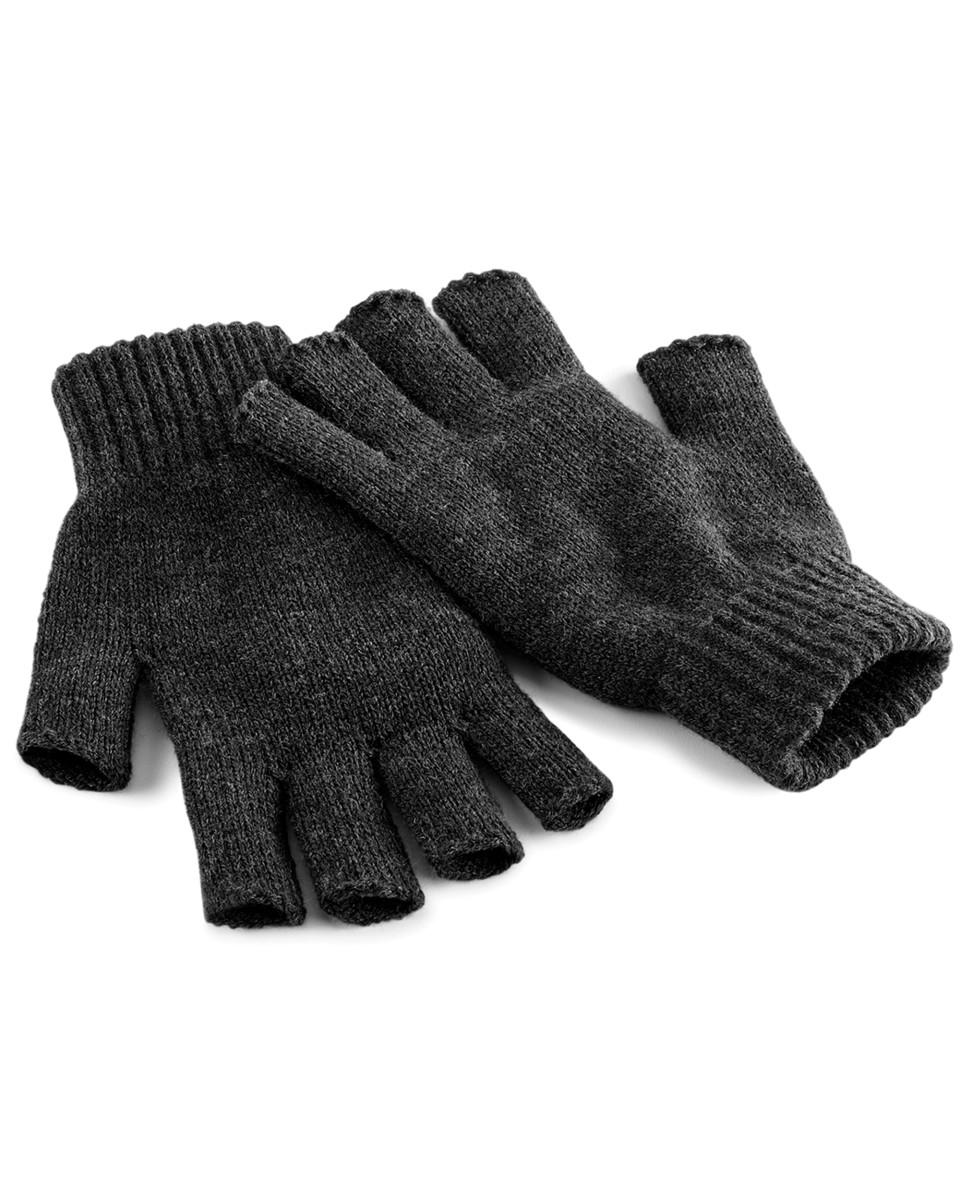 FINGERLESS GLOVES SOFT KNITTED WARM OPEN HAND WARMERS