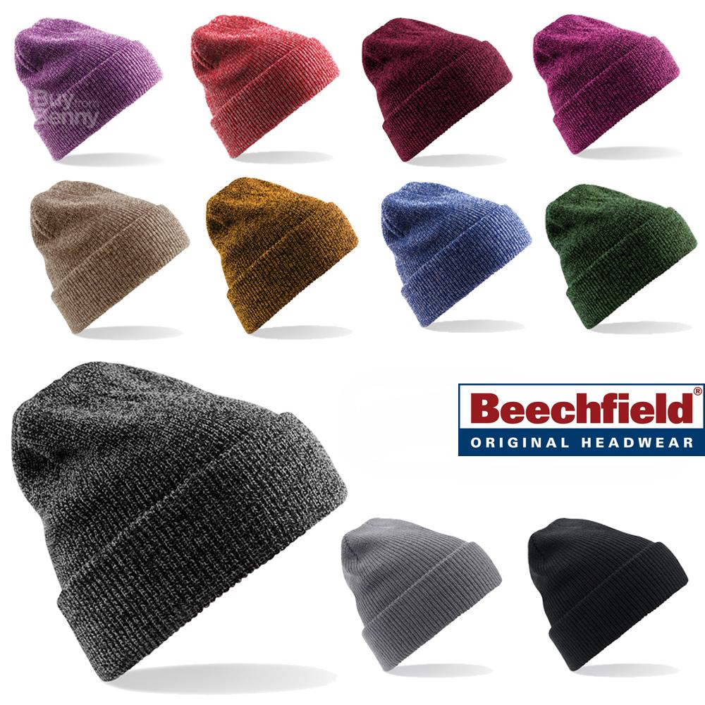 9bac844c Sentinel Beechfield BEANIE HAT WINTER WARM SOFT KNITTED VINTAGE STYLE  SPORTS MEN'S LADIES