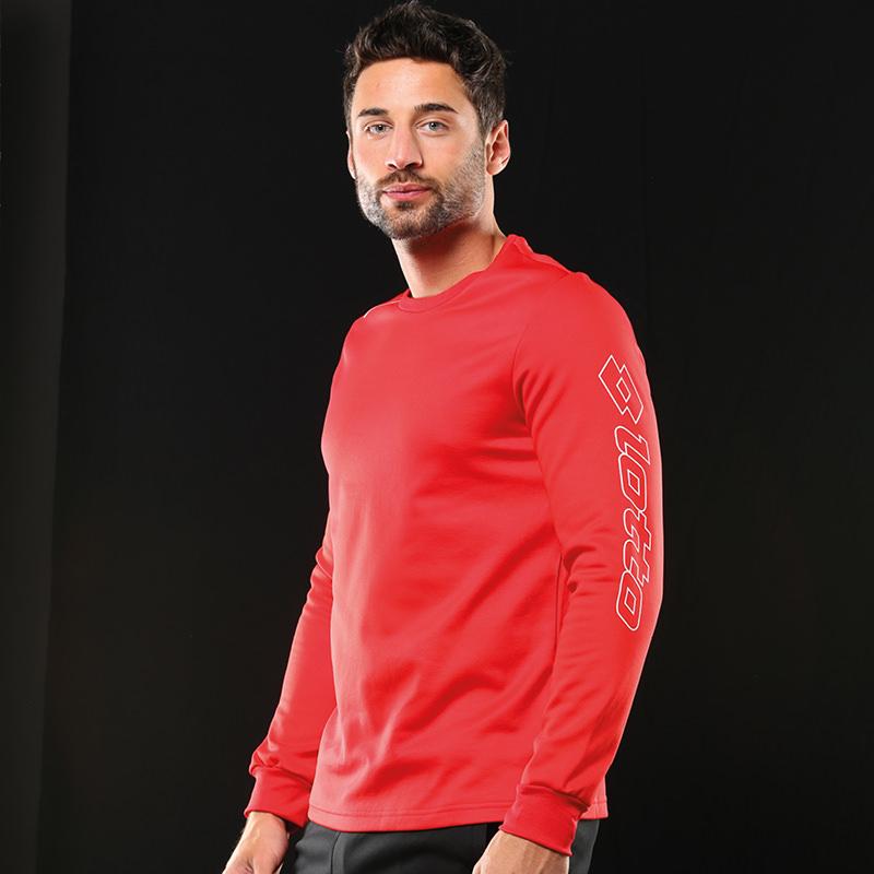 Lotto-Homme-Manches-Longues-Zenith-Classique-Haute-Performance-Training-T-shirt-LT041