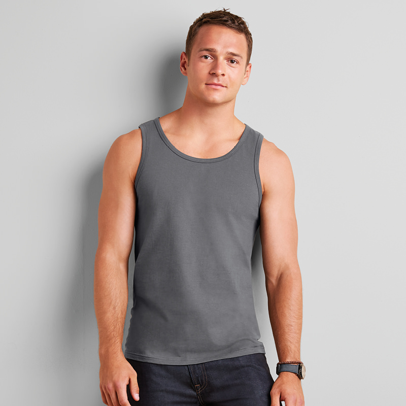 Gildan SoftStyle Tank Top Vest Men Ladies Womens T Shirt Adult Plain M L Sizes