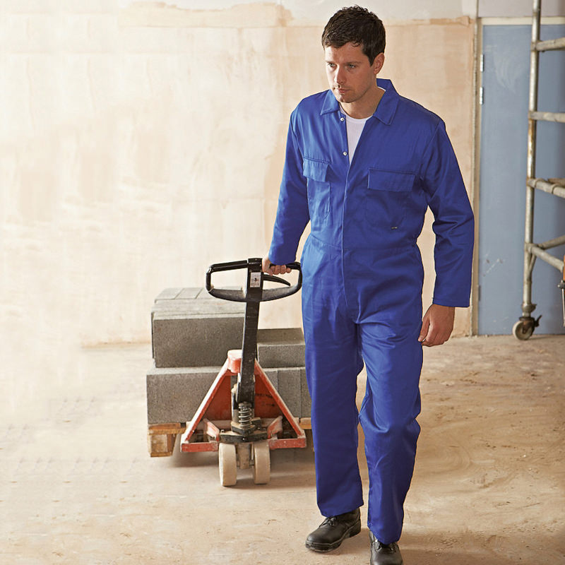 Supertouch Polycotton Coverall Basic Mens Overalls Boiler Suit Work Wear New