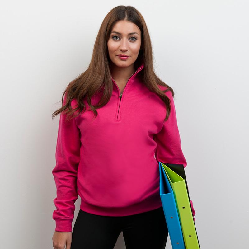 Men // Women JH046 AWDis Sophomore 1//4 zip neck sweatshirt casual sport jumper