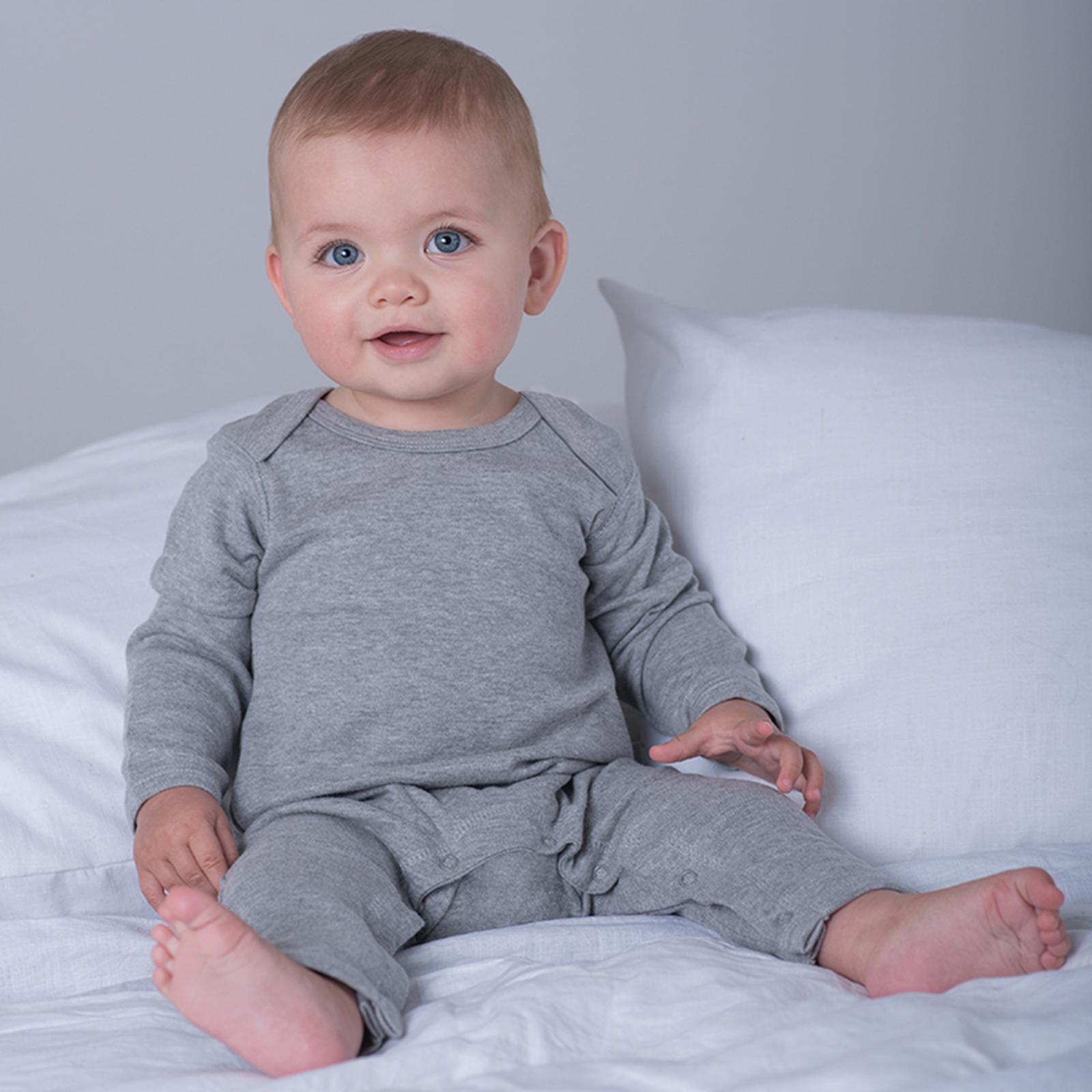 Bebé Niño Blanco Smart Polo Body Con Cuello Algodón Mangas Largas