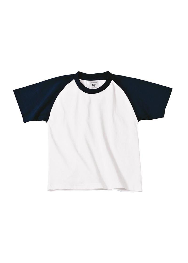 B-amp-C-Collection-contrasto-Kids-Baseball-Sports-Wear-Maniche-Corte-T-shirt-Top-Nuova