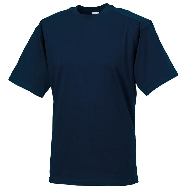 Russell-para-Hombre-Cuello-Redondo-Camiseta-para-Hombre-de-Manga-Corta-Top-Informal-Llano-Ropa-De miniatura 6