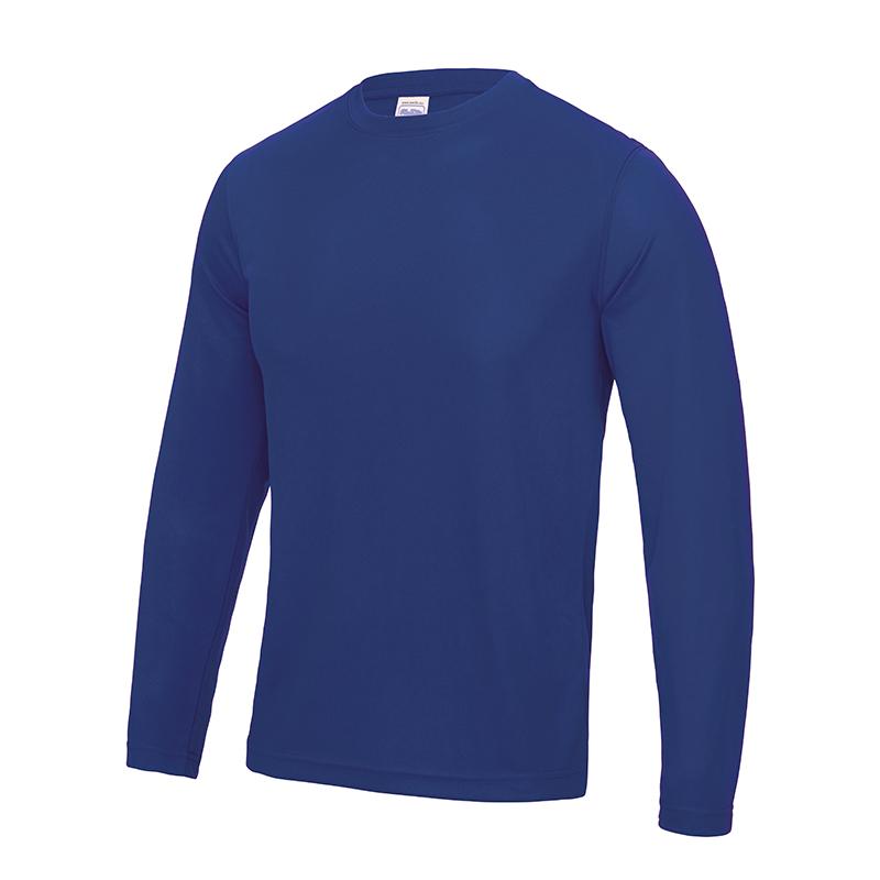 AWDis-JC002-Chulo-Hombre-Manga-Larga-cool-tee-camiseta-cuello-redondo-poliester