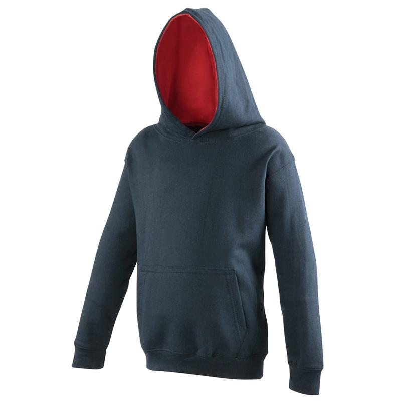 AWDis-Hoods-infantil-Contraste-Calido-Comodo-Sudadera-Con-Capucha-Jersey