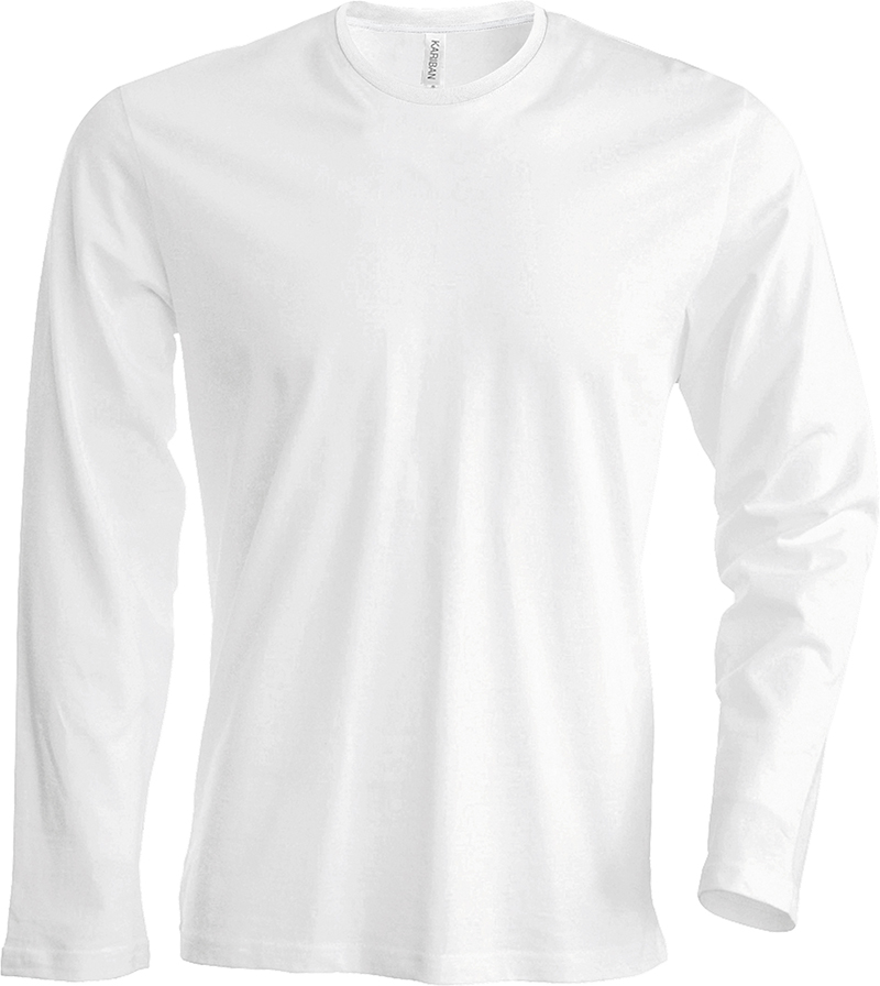 Kariban-KB359-Hommes-manches-longues-T-shirt-a-col-rond-extra-doux-confort