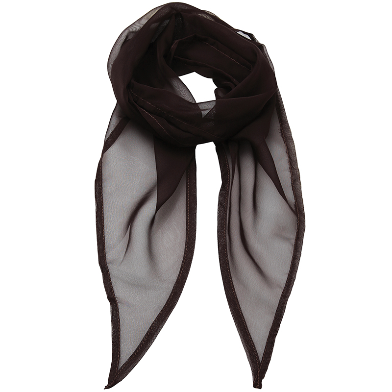 Ladies Women Premier Light Lustrous Chiffon Weave Colour Scarf