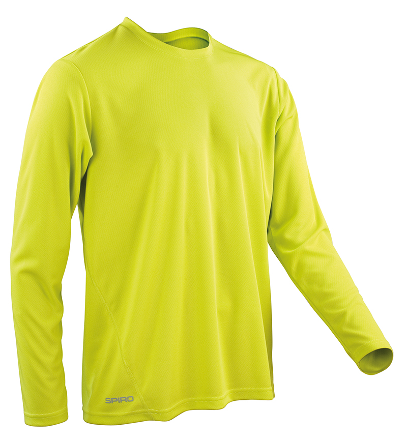 SPIRO SPIRO Quick Dry Long Sleeve T-shirt S254m Mens Performance Sports  Wear Top Lime Green XL. About this product. Picture 1 of 2; Picture 2 of 2