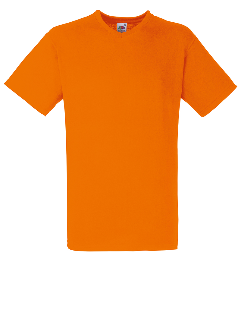 Fruit of the loom ss034 valueweight mens plain v neck tee for Mens plain v neck t shirts