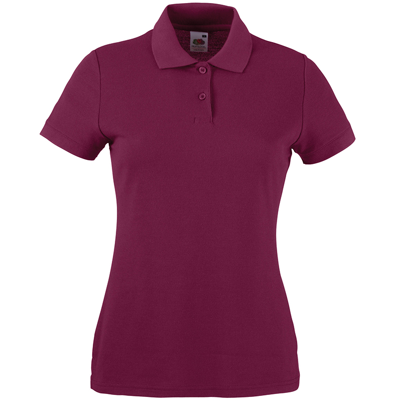 Fruit of the loom ladies polo shirt slim fit golf sports for Slim fit golf shirts