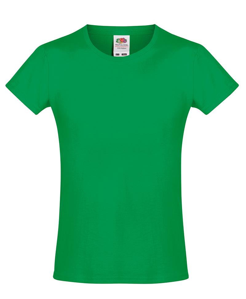 Fruit-of-the-Loom-Ninas-Suaves-Spun-cotidiano-Liso-Camisetas-Infantil