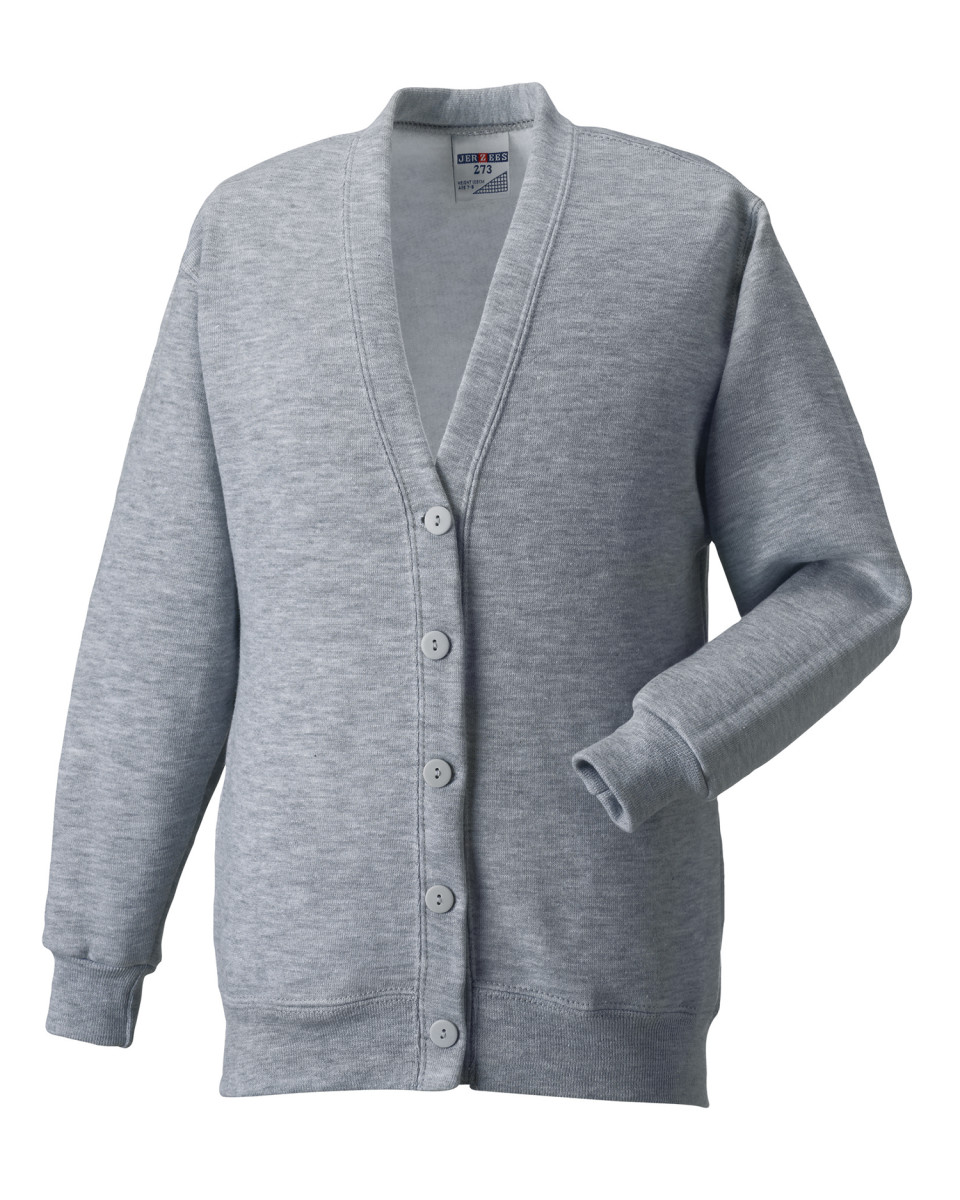 Russell-Sweat-Cardigan-Smart-Decontracte-Pull-Boutons-Ouvert-Col-V-Femme-Homme