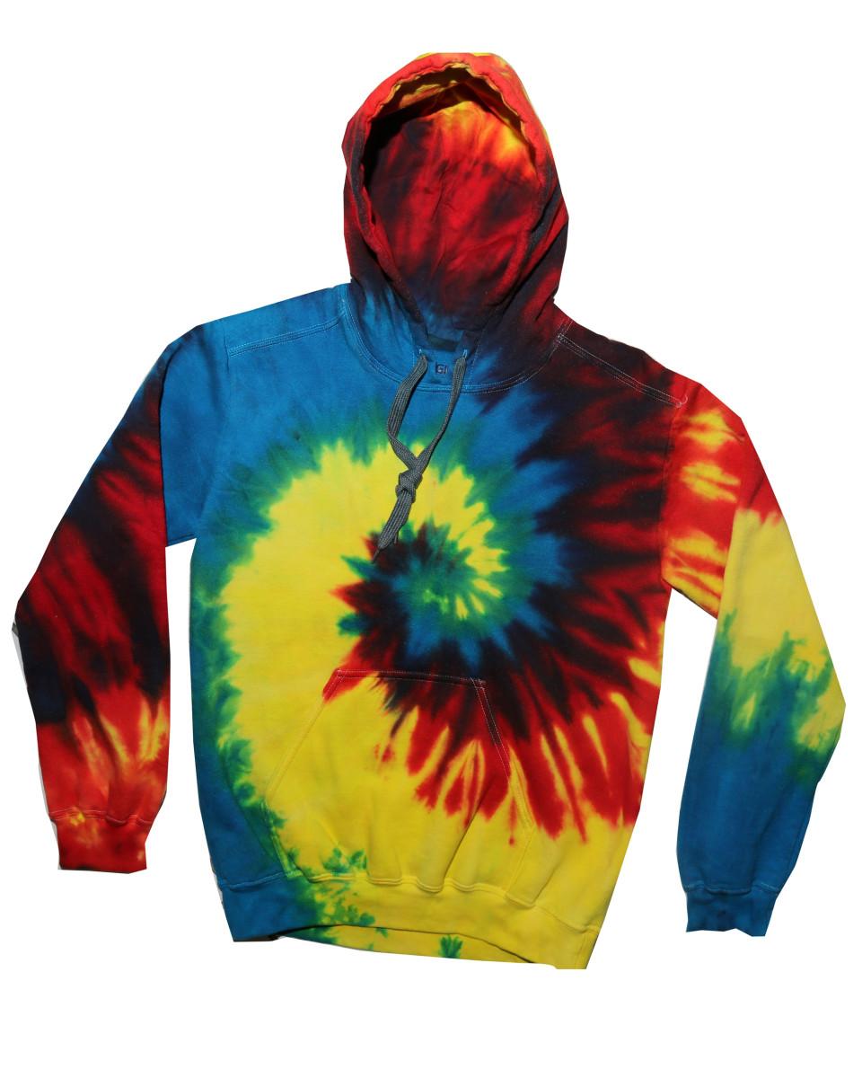 tie dye tduk 9250td tie dye hooded sweatshirt top rainbow. Black Bedroom Furniture Sets. Home Design Ideas