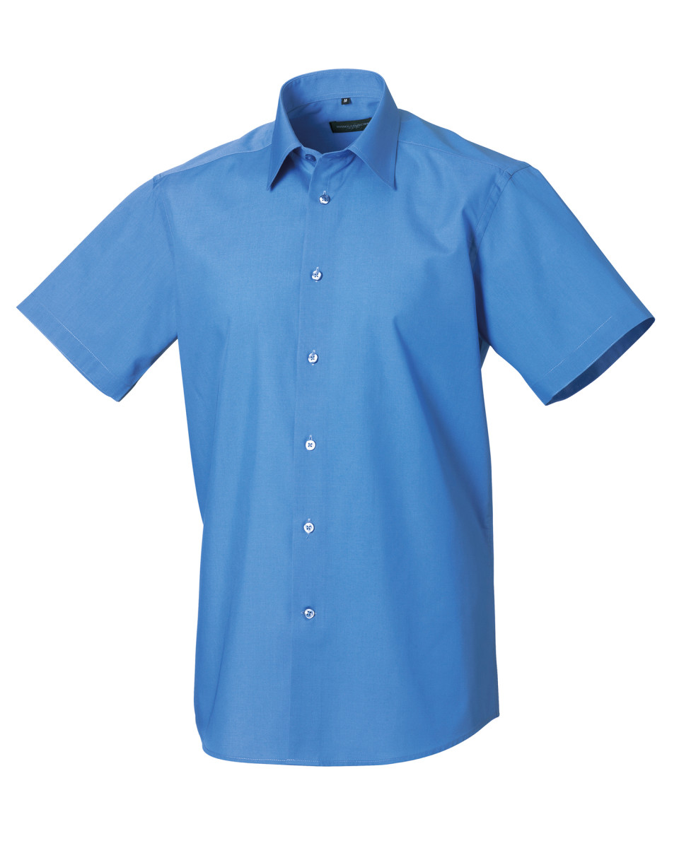 RUSSELL-COLLECTION-MEN-039-S-SHIRT-SHORT-SLEEVE-EASY-CARE-TAILORED-FIT-SMART-S-4XL
