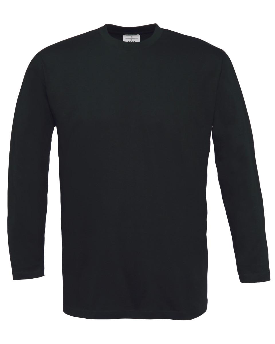 B-amp-C-Para-Hombres-Mangas-Largas-Camiseta-Casual-Camiseta-Lisa-100-Algodon-Suave-pre-Shrunk-S-3XL