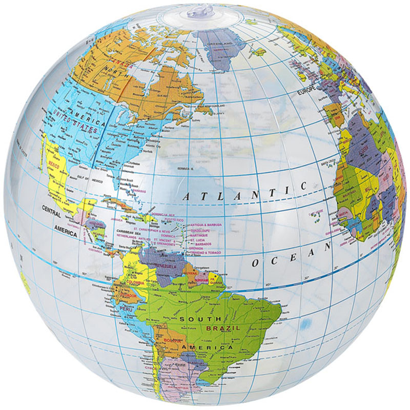 Beach ball atlas inflatable world map blowup globe geography sentinel beach ball atlas inflatable world map blowup globe geography educational toy 14 gumiabroncs Image collections