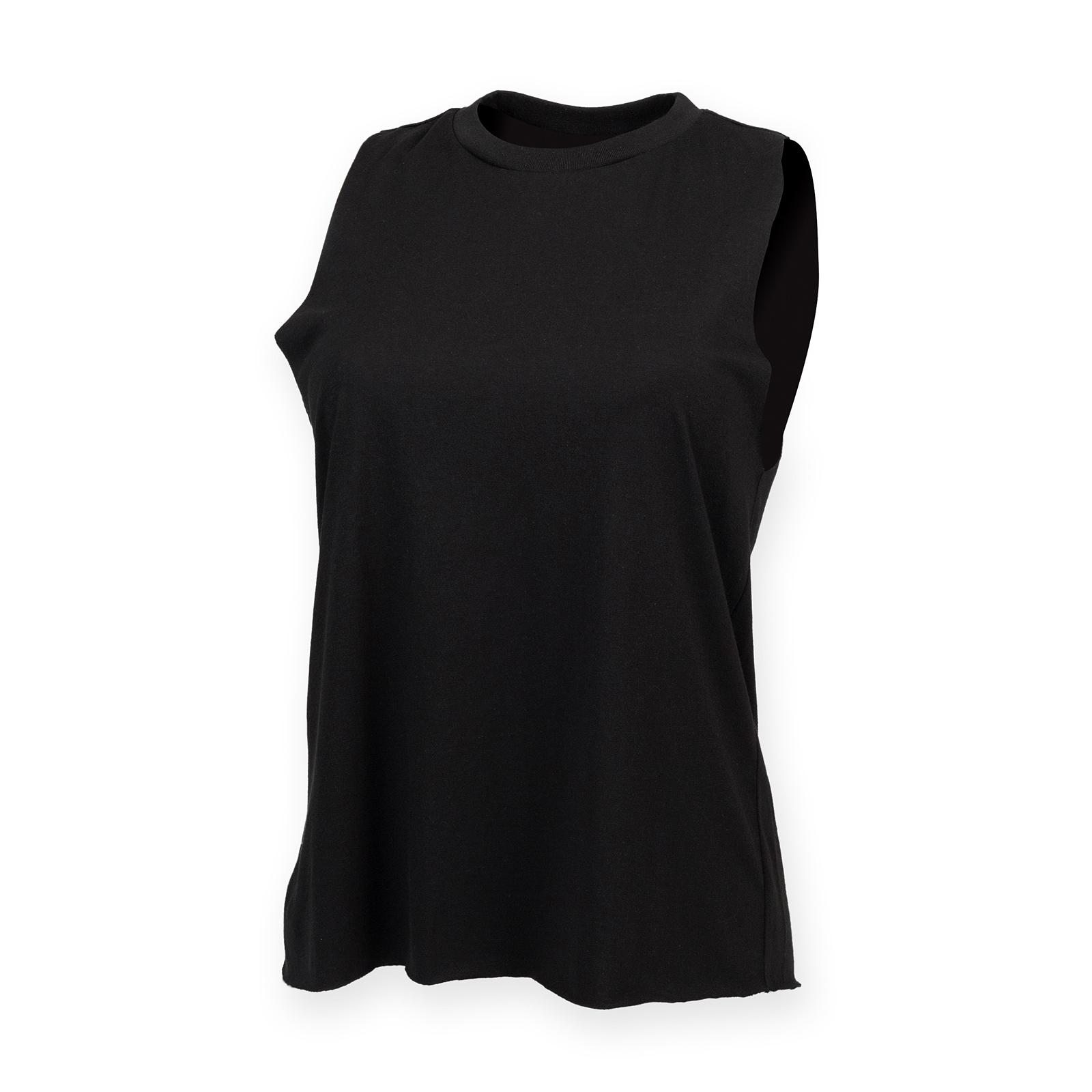 Senoras-chaleco-cuello-alto-SF-Para-Mujer-Elegante-Cuello-Acanalado-Sin-Mangas-Liso-Camiseta-Top
