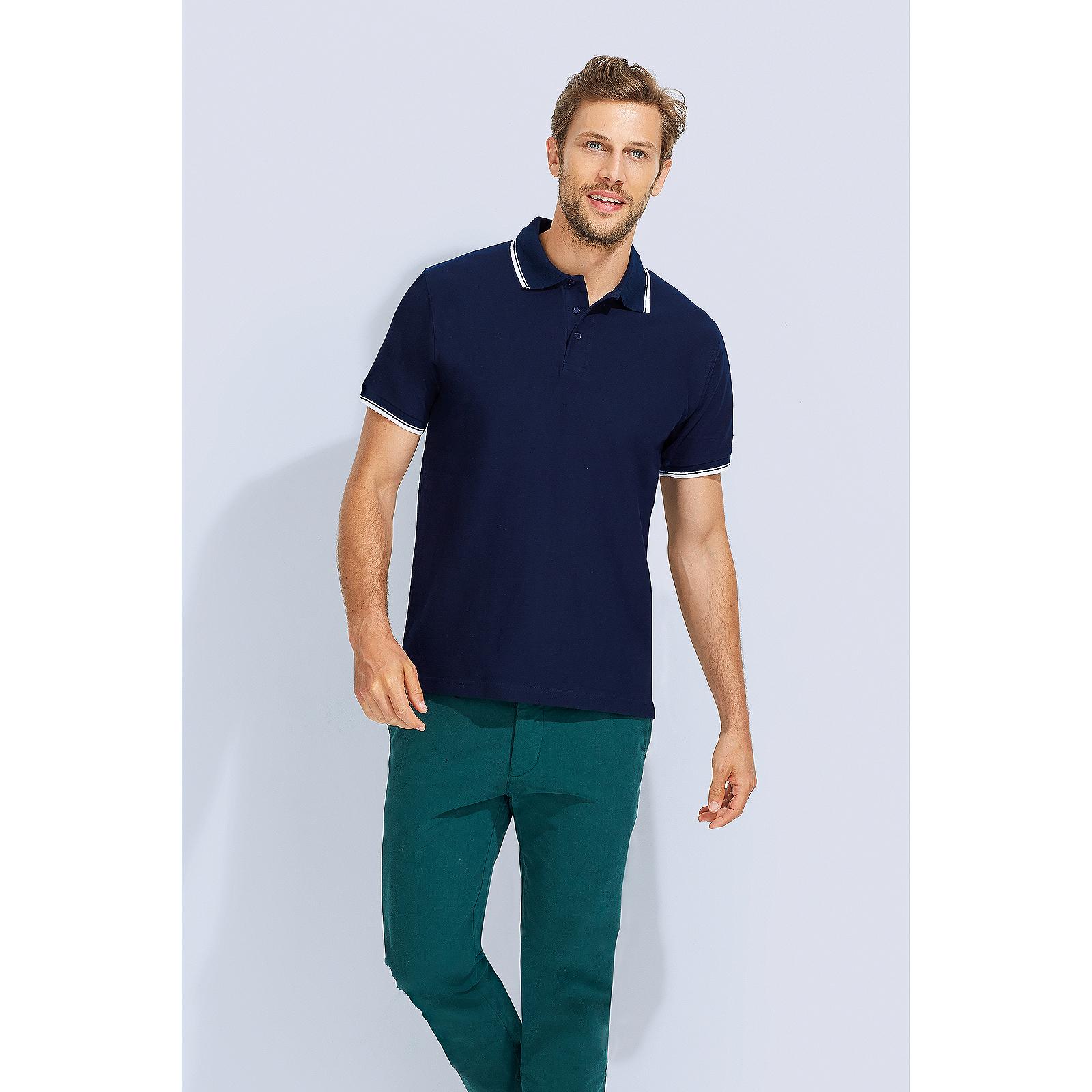 f734e9cb0ff81 Details about Men Practice Tipped Cotton Pique Polo Shirt Short Sleeve  Cotton Smart Casual Top
