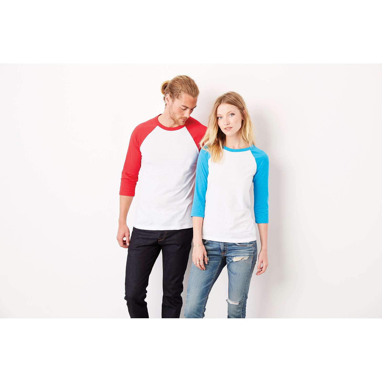 a4eea4c6fa2 Sentinel Canvas Unisex 3 4 Sleeve Baseball T-Shirt Bound Neck Triblend Slim  Fit Tee