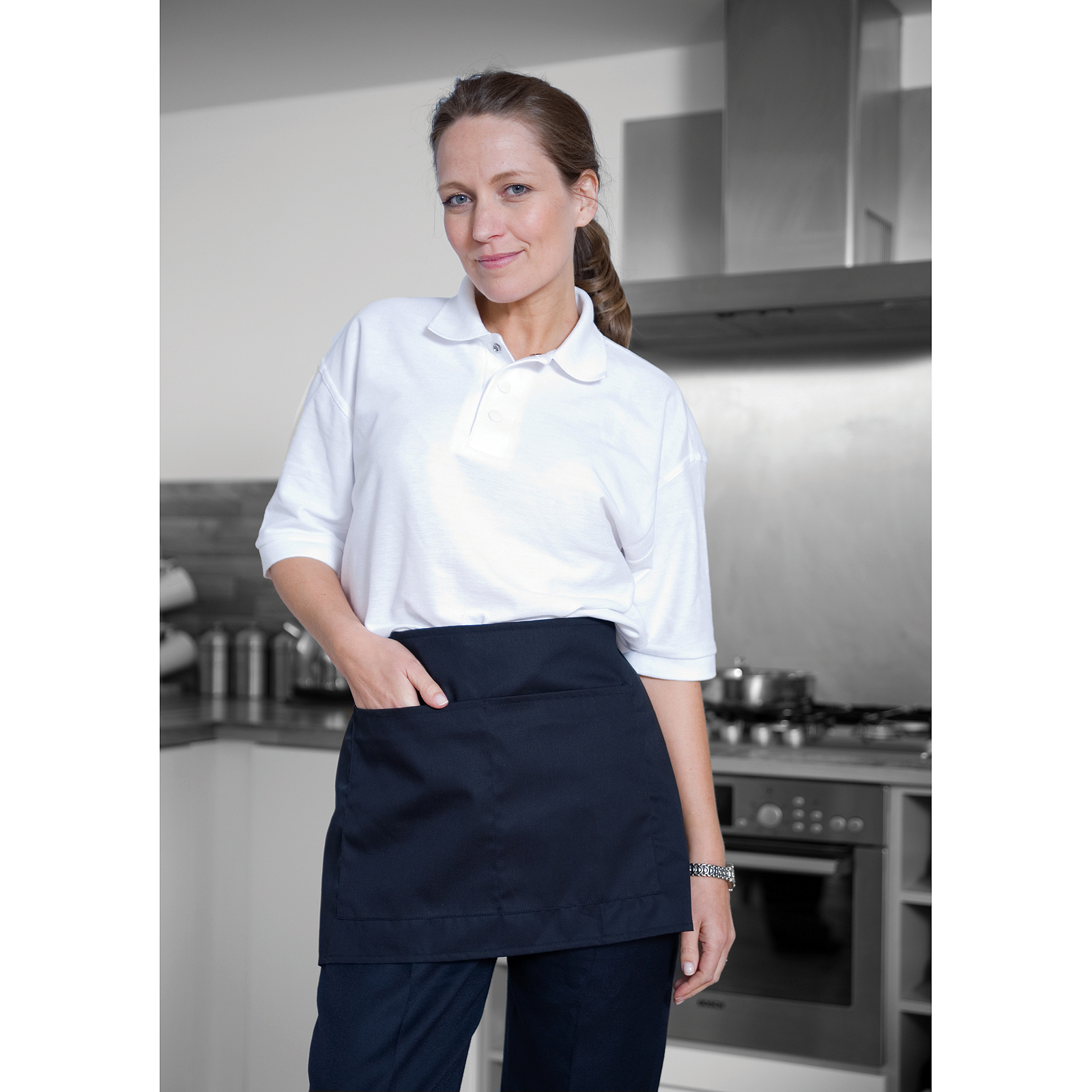 Premier Mens /& Womens//Ladies Bistro Long Length Catering Waist Apron