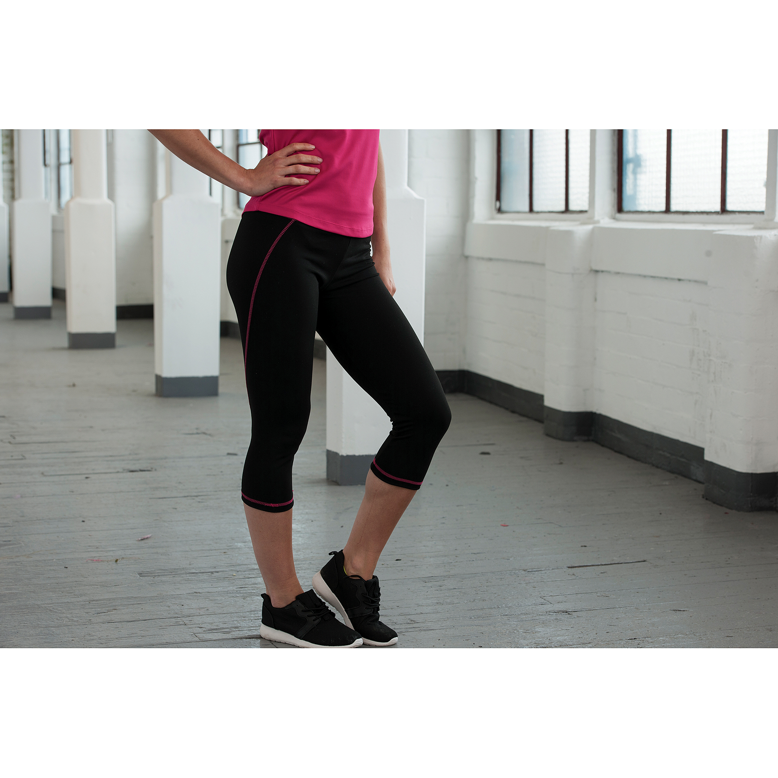 Awdis Just Cool Womens//Ladies Girlie Capri Sports Pants//Trousers
