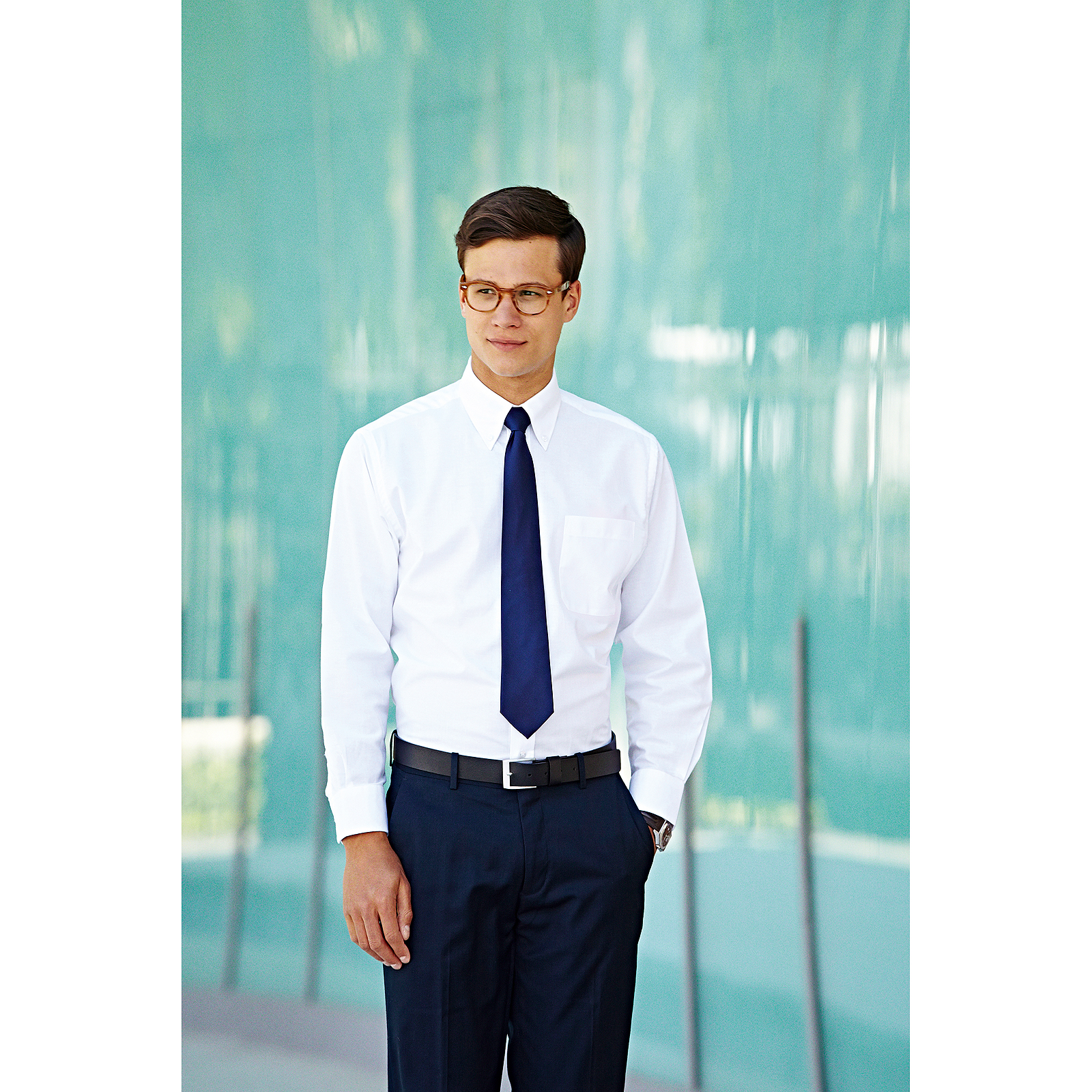 Details about Fruit of the Loom Long Sleeves Oxford Shirt Mens Plain Office Wear Formal Shirts
