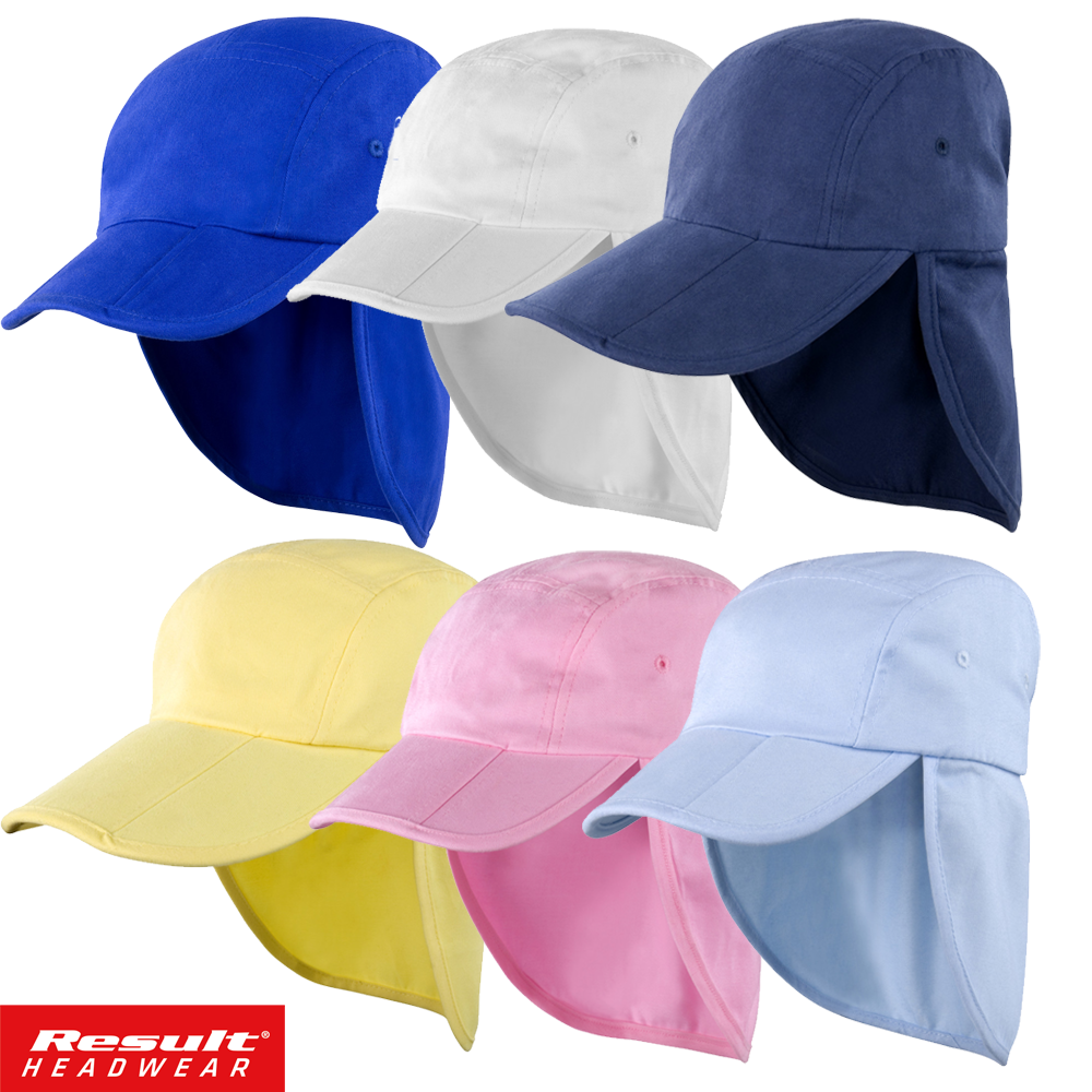 Details about Result LEGIONNAIRE HAT KIDS BOY BEACH CAP SUN PROTECTION NECK  EARS COVER FOLD UP