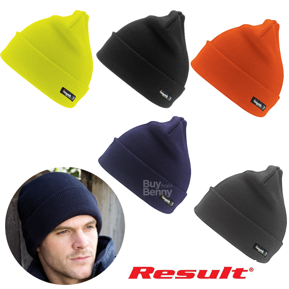 686569eaae0 Details about RESULT WINTER HAT THINSULATE INSULATION RAINPROOF WOOLY SKI  BEANIE WARM HI VIS
