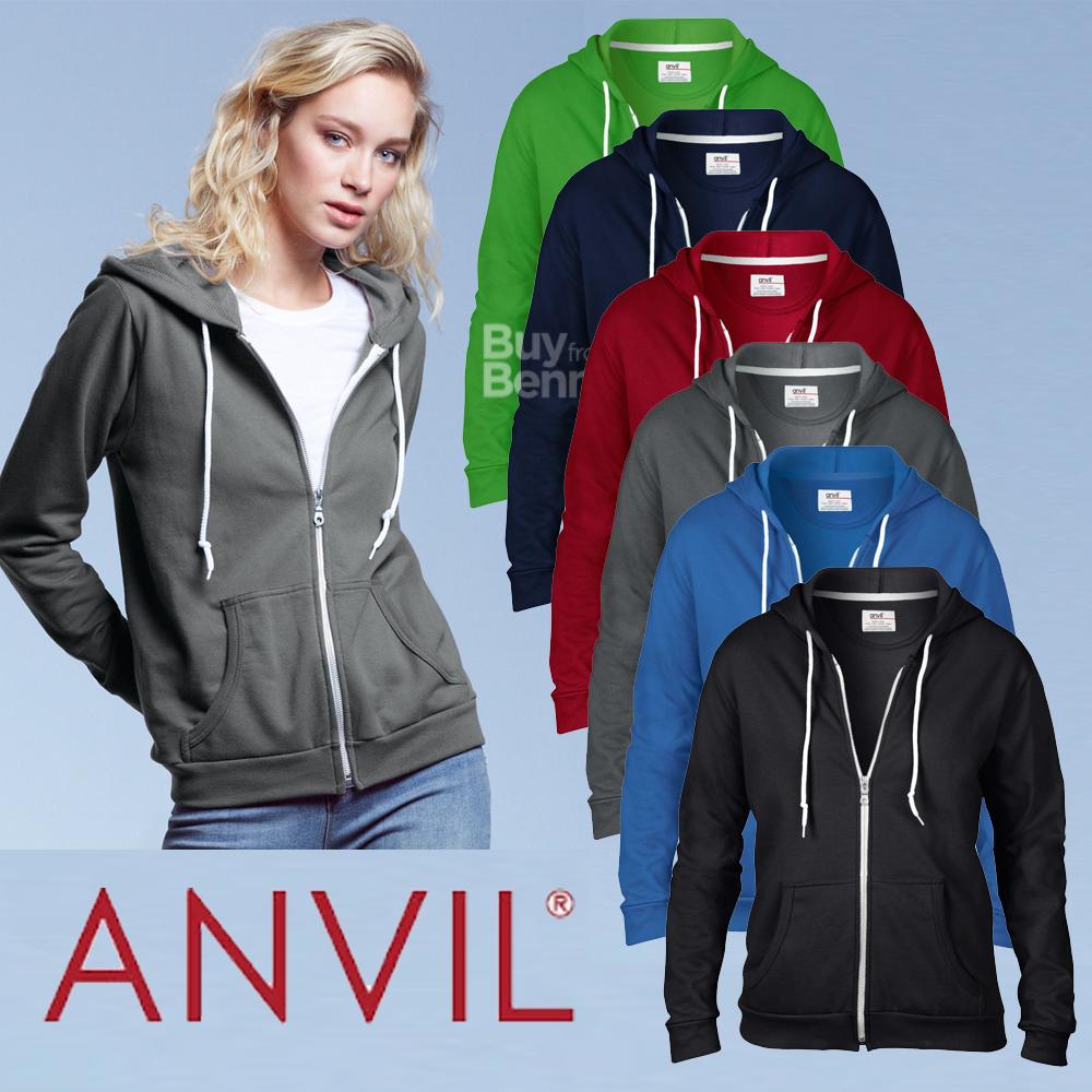 Sudadera con capucha y cremallera mujer ANVIL 71600FL