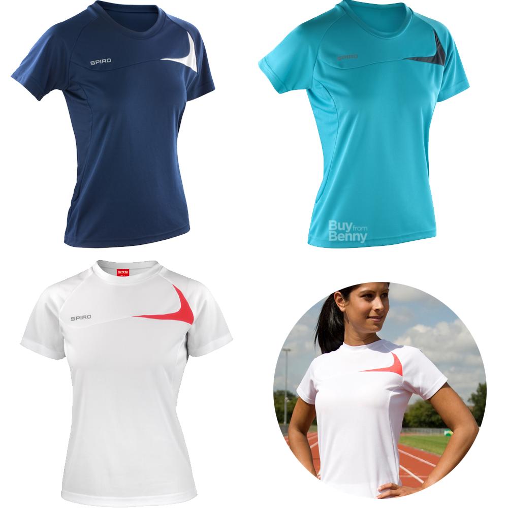 Sentinel Spiro Las Top Sport Running Gym T Shirt Quick Dry Uv Protection Wicking Xs