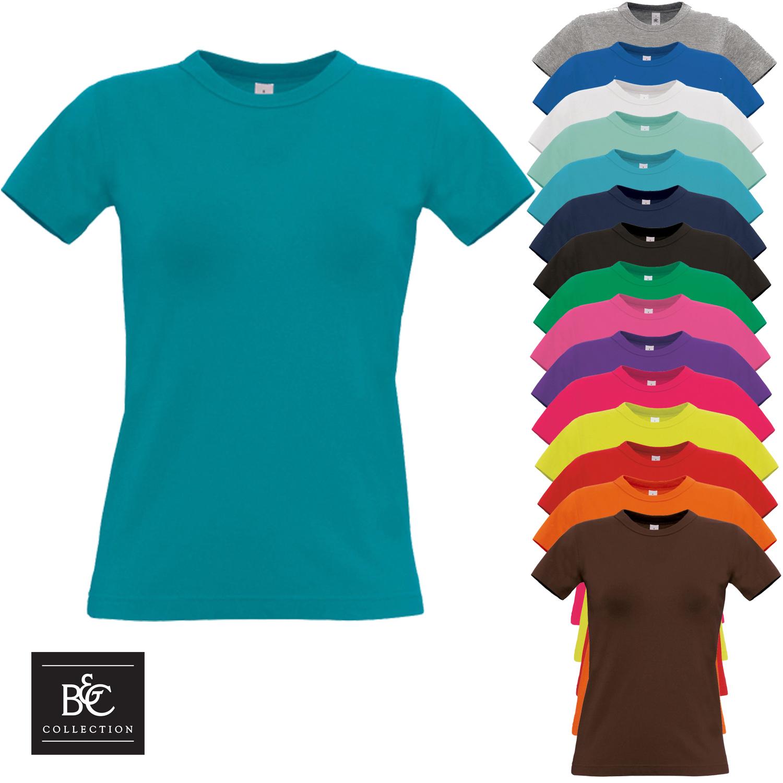B/&C WOMEN/'S T-SHIRT 100/% SOFT COTTON TOP CRE NECK BASIC PLAIN SHORT SLEEVE SIZES