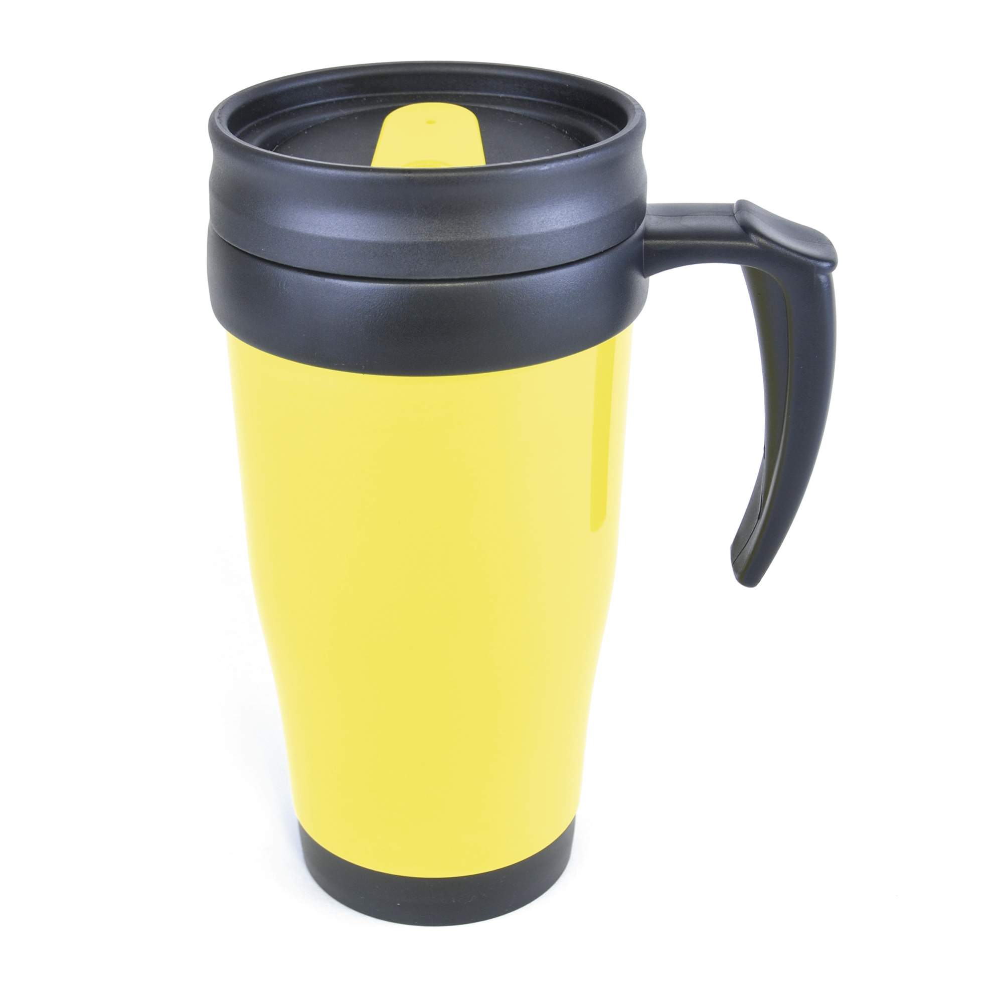 THERMAL TRAVEL MUG TEE COFFEE HOT DRINK CUP HANDLE DOUBLE WALLED INSULATED 400ml   eBay