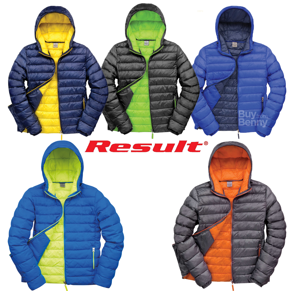RESULT MEN/'S JACKET PADDED LIGHT SUPER WARM LINED HOOD FASHION WINTER SNOW COAT