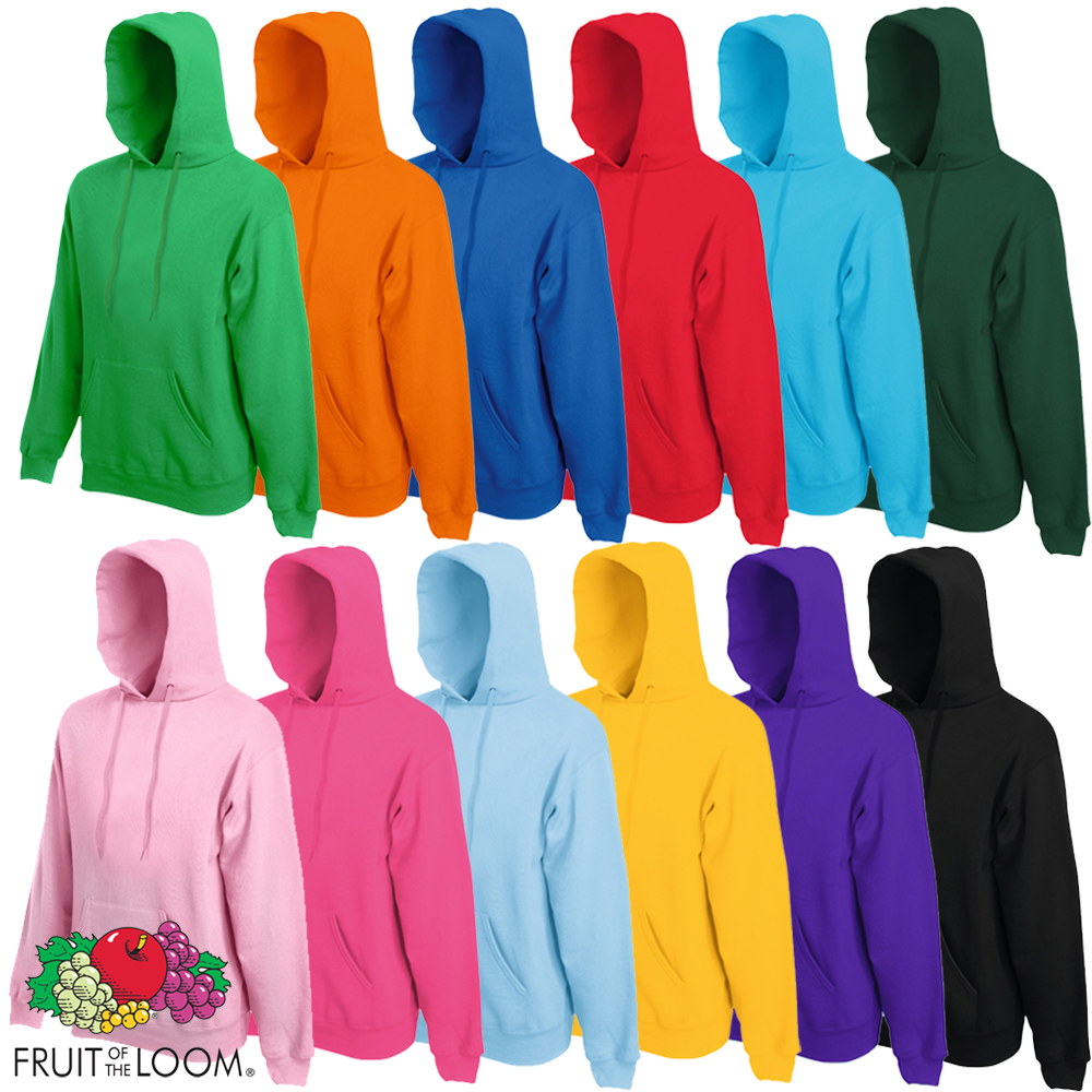 fruit of the loom hooded sweatshirt jumper hoodie pullover. Black Bedroom Furniture Sets. Home Design Ideas