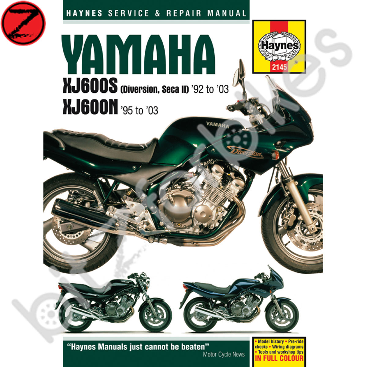 Sentinel Haynes Motorcycle Manual Yamaha XJ600N XJ600 Diversion 92-03