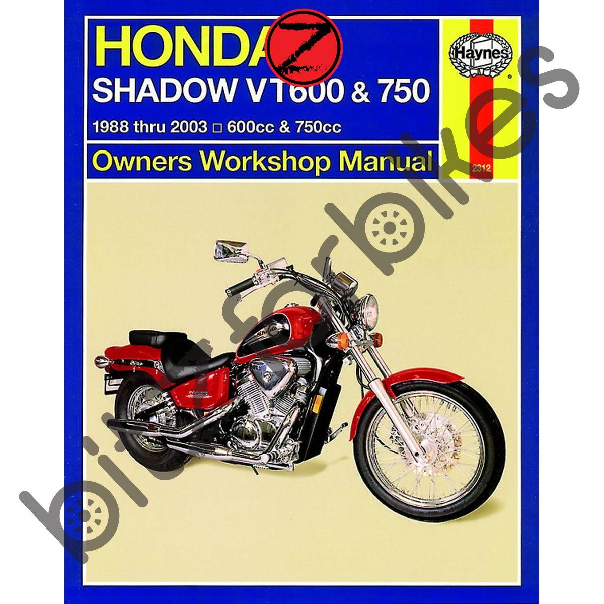 Sentinel Haynes Motorcycle Manual Honda VT600 VT750 Shadow 88-08