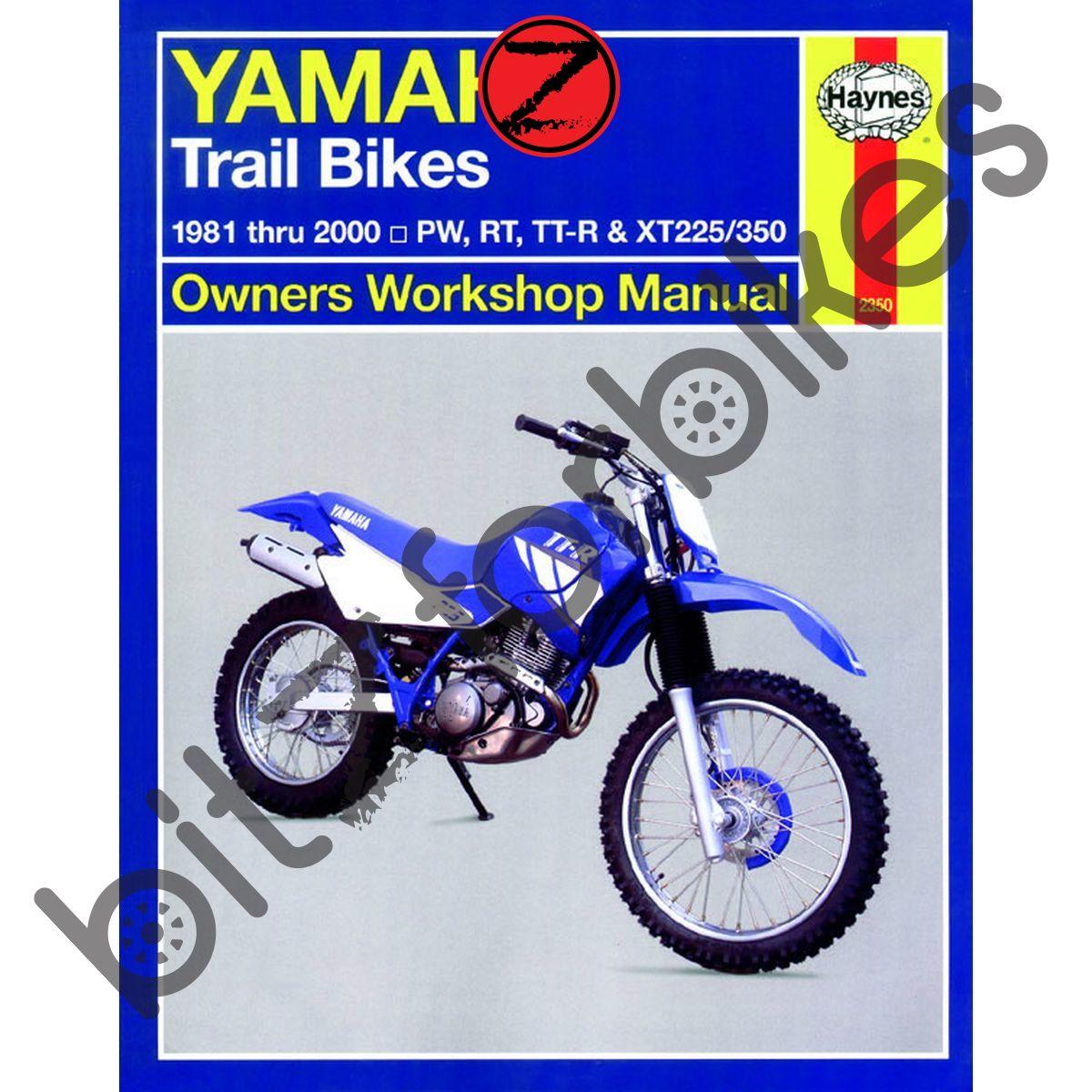 Sentinel Haynes Motorcycle Manual Yamaha PW50 80 RT100 180 TT-R90 125 225  250 XT