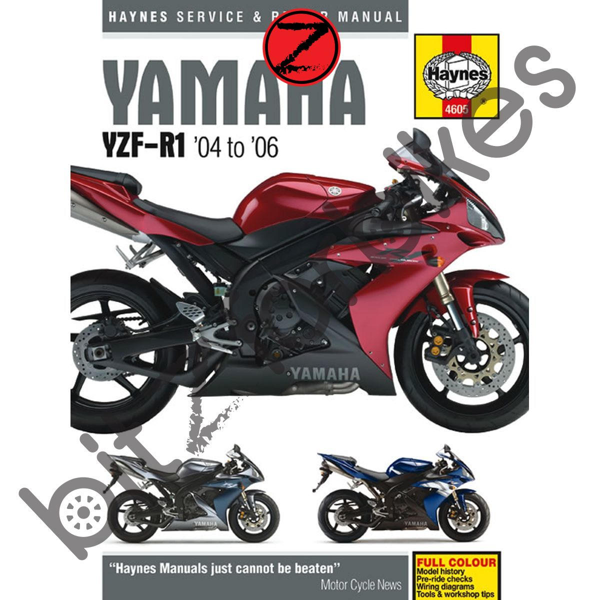 Sentinel Haynes Motorcycle Manual Yamaha YZF R1 04-06 DUE AUG 2007