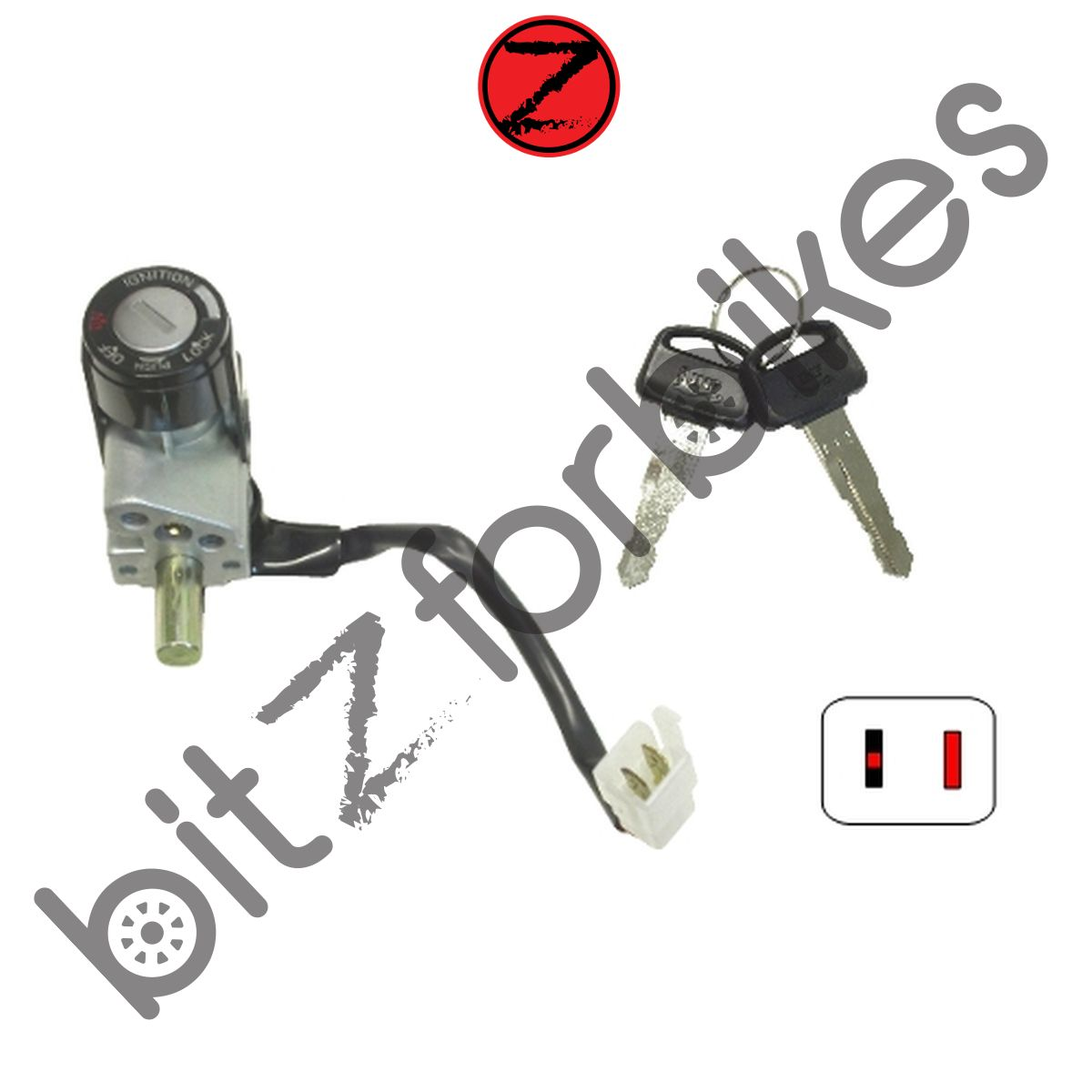 Ignition Switch 2 Wire Honda Sh 50 Y Scoopy 2001
