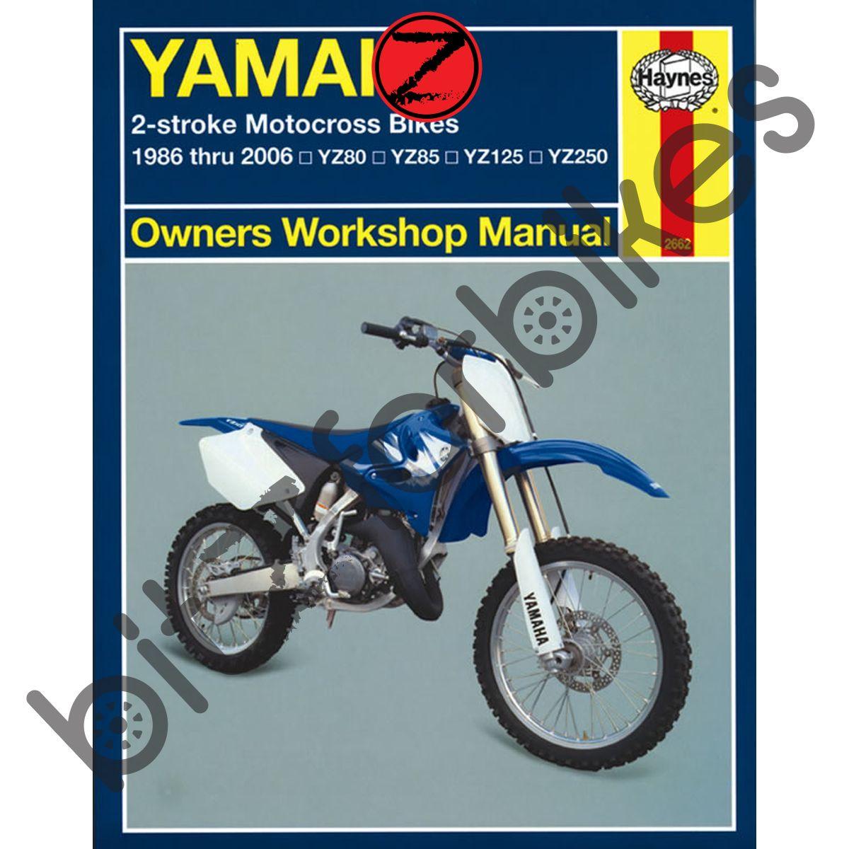 Sentinel Haynes Motorcycle Manual Yamaha YZ80 86-01 YZ85 02-06 YZ125 YZ250  86-