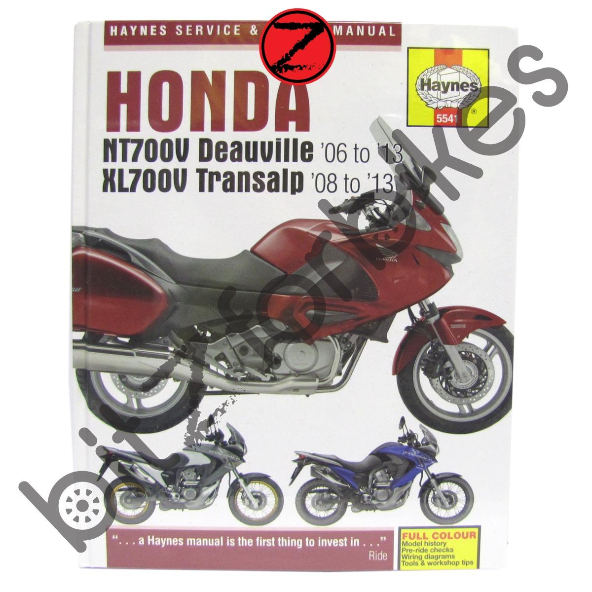 Sentinel Haynes Motorcycle Manual Honda NT700 Deauville XL700 Transalp 06-13