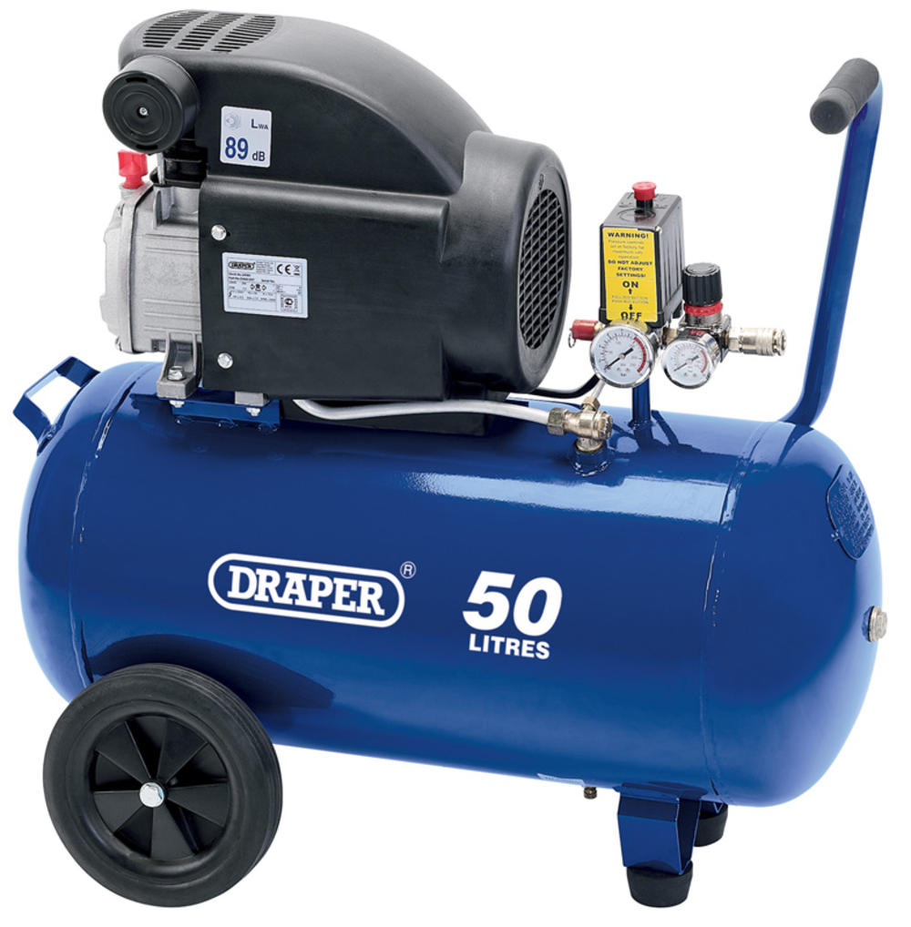 Draper 24981 DA50/207 50L 230V 1.5kW (2hp) Air Compressor