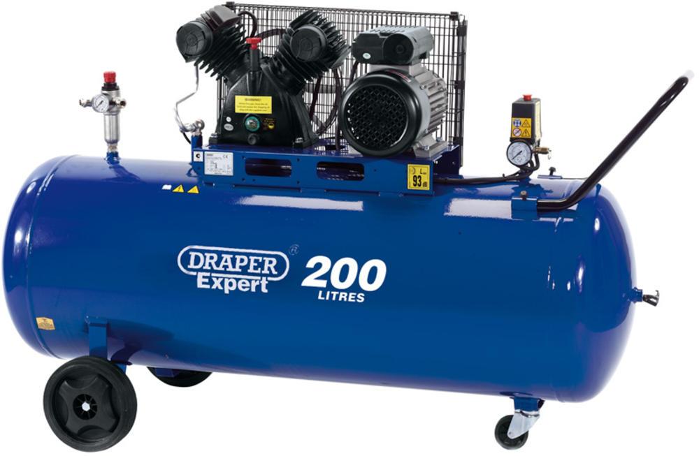 Draper 34383 DA200/300D 200L 230V 2.2kW Belt-Driven Air Compressor