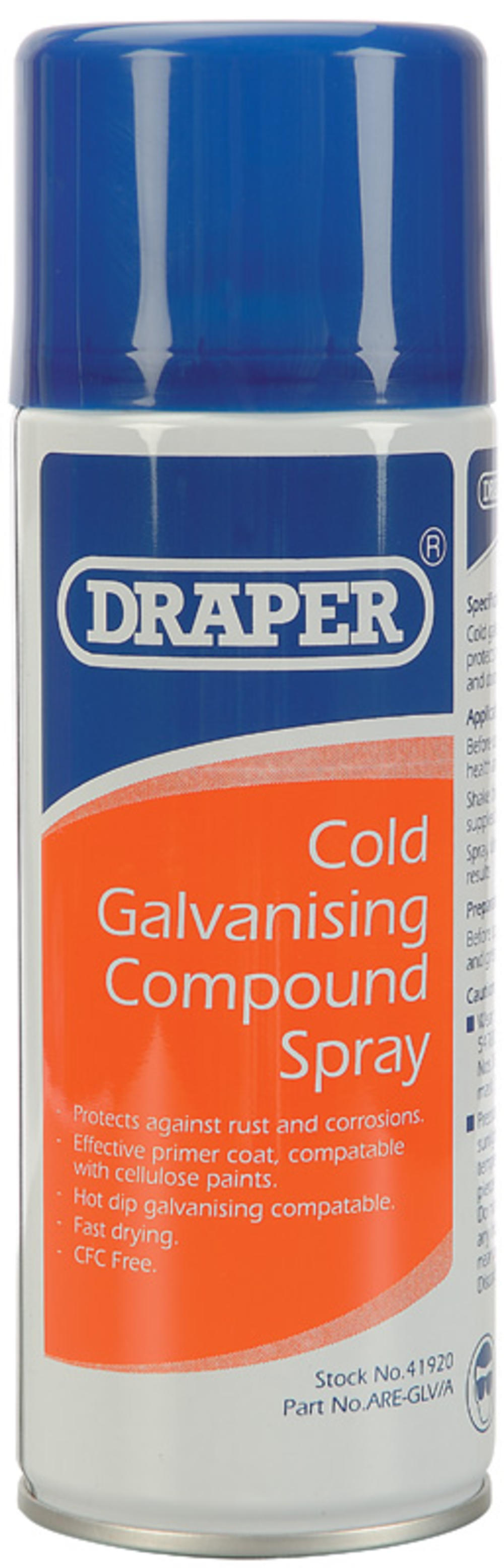 Draper 41920 ARE-GLV/A 400ml Cold Galvanizing Compound Spray