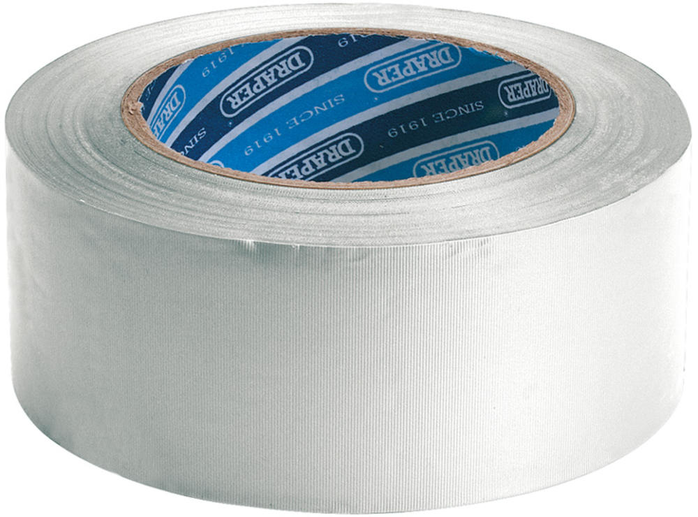 Draper 49431 TP-DUCT/W/A 30M x 50mm White Duct Tape Roll